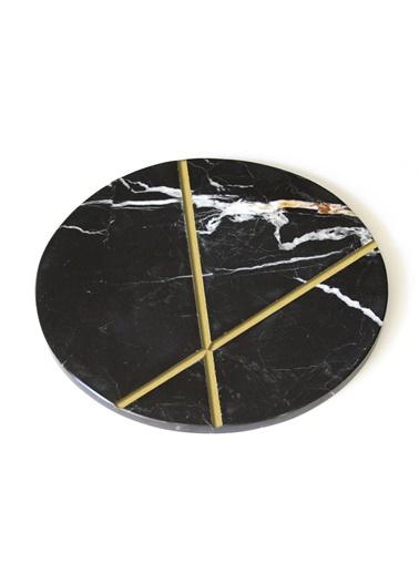 Gold X Siyah Sunum Tabağı-Marble&Etc.